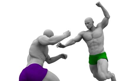 artes marciales mixtas: Artes Marciales Mixtas de Capacitación y Sparring Curso Foto de archivo