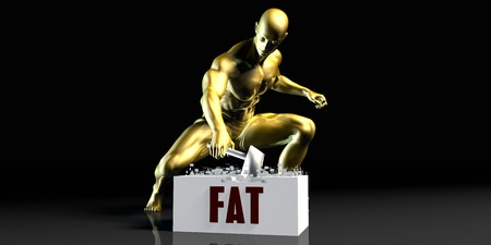 stopping: Eliminating Stopping or Reducing Fat as a Concept Stock Photo