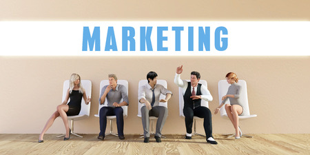discussed: Business Marketing Being Discussed in a Group Meeting Stock Photo