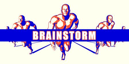 brainstorm: Brainstorm as a Competition Concept Illustration Art Stock Photo