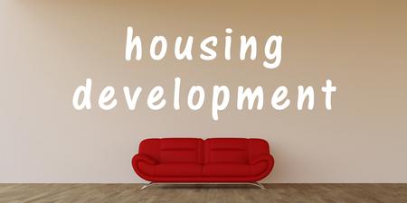 housing development: Housing Development Concept with Home Interior Art