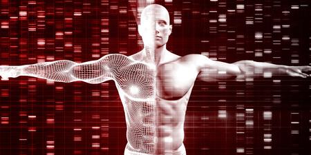 recessive: Genetics with Science Data as a Futuristic Concept Stock Photo