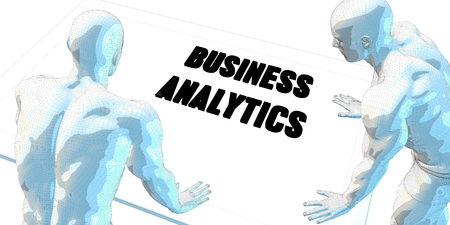 serious business: Business Analytics Discussion and Business Meeting Concept Art Stock Photo