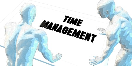 business time: Time Management Discussion and Business Meeting Concept Art Stock Photo