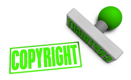 reviewed: Copyright Stamp or Chop on Paper Concept in 3d Stock Photo