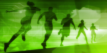 sporting event: Sports Background Illustration Concept with Running People
