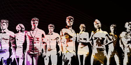 recursos humanos: Gestión de Recursos Humanos Manpower Concepto Fuerza de Trabajo de arte