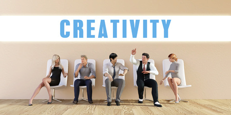 discussed: Business Creativity Being Discussed in a Group Meeting Stock Photo