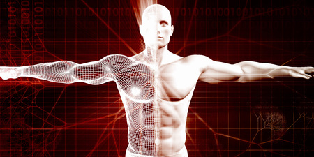 Athletic Conditioning en Body ontwikkeling als concept Stockfoto