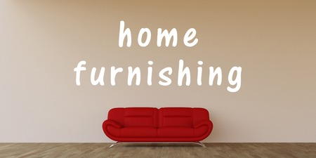 furnishing: Home Furnishing Food Concept with Home Interior Art Stock Photo