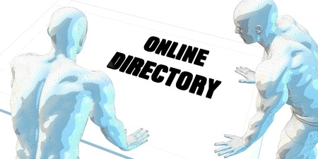 cautious: Online Directory Discussion and Business Meeting Concept Art Stock Photo