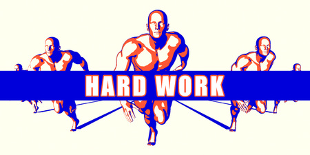 hard: Hard work as a Competition Concept Illustration Art