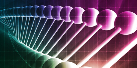 metodo cientifico: Molecules Background with DNA Genetic Helix Concept Art Foto de archivo