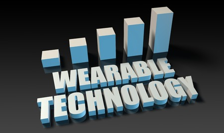 experienced: Wearable technology graph chart in 3d on blue and black