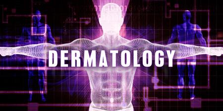 デジタル技術の医療コンセプト アートとして皮膚科 写真素材 - 58542156