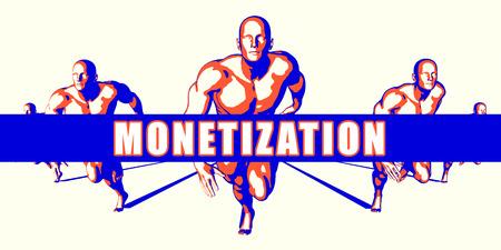 monetization: Monetization as a Competition Concept Illustration Art