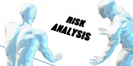 risk analysis: Risk Analysis Discussion and Business Meeting Concept Art Stock Photo