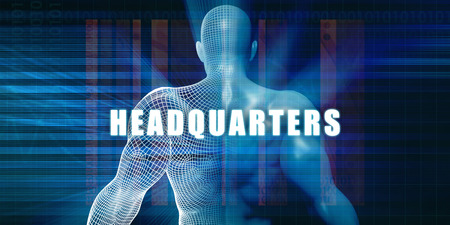 headquarters: Headquarters as a Futuristic Concept Abstract Background