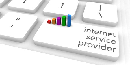 service provider: Internet Service Provider or ISP as Concept Stock Photo