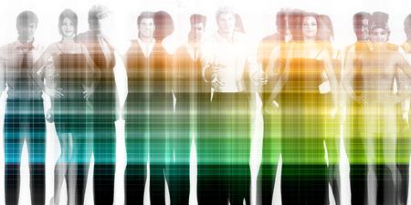 management team: Management Team and Leader of a Group of Businessmen