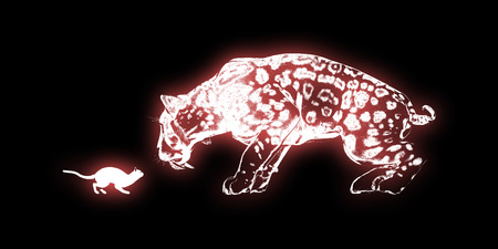 determination: Determination Concept with Cat and Sabretooth Tiger Art