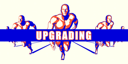 upgrading: Upgrading as a Competition Concept Illustration Art