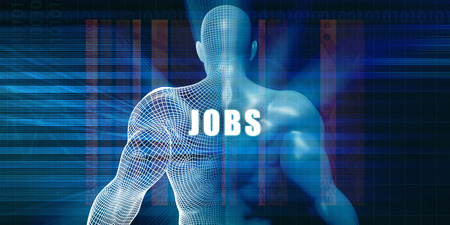 technology career: Jobs as a Futuristic Concept Abstract Background Stock Photo