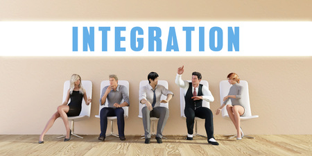 discussed: Business Integration Being Discussed in a Group Meeting