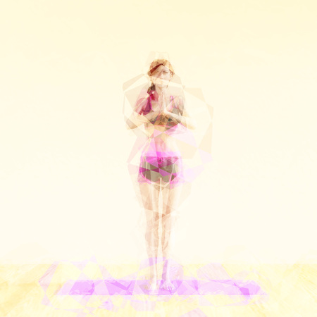 company person: Abstract Yoga Concept Background Illustration as Art