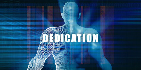 dedication: Dedication as a Futuristic Concept Abstract Background