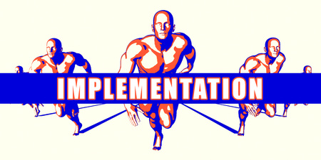 implementation: Implementation as a Competition Concept Illustration Art Stock Photo