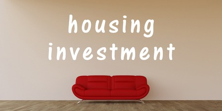 investment concept: Housing Investment Concept with Home Interior Art