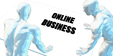 serious business: Online Business Discussion and Business Meeting Concept Art