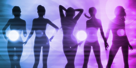 exotic dancer: Vacation Fun with Ladies Basking in the Sun