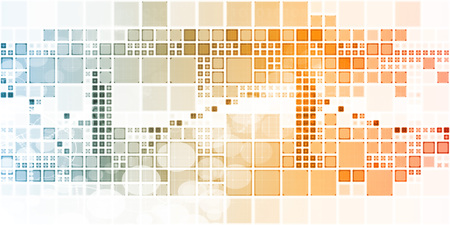 luminance: Website Background With Cube Squares and Colorful Art