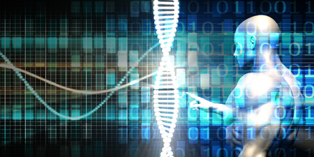 genetic engineering: Genetic Engineering Industry and Business Ethics as Concept Stock Photo