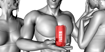 sexy muscular man: Faster Product Concept as an Instant Easy Solution