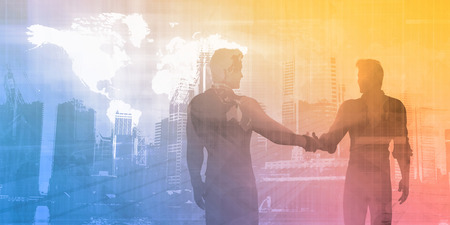 sales meeting: Sales Meeting with Businessmen Shaking Hands