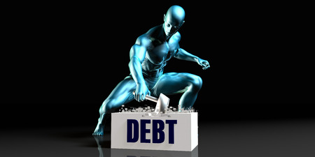 complete solution: Get Rid of Debt and Remove the Problem Stock Photo