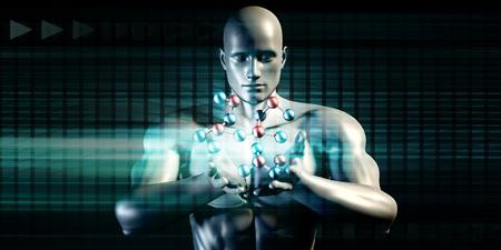 inventing: Futuristic Science Background of the Future Art