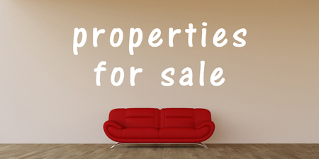 sales trend: Properties For Sale Concept with Home Interior Art
