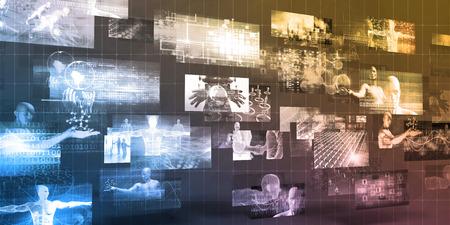 Digital Marketing Platform and Effective Technology Promotion Standard-Bild