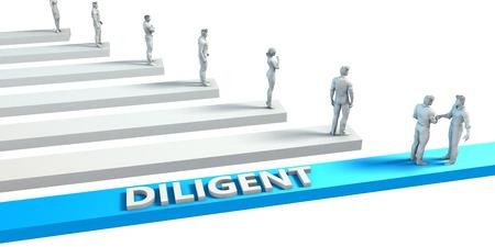 diligente: Diligente como una habilidad para un buen empleado Foto de archivo