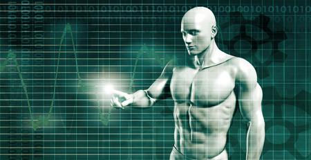 未來隨著概念的技術發展趨勢 版權商用圖片