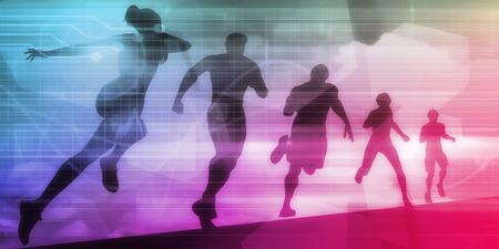 Sports Technology Background for Medical Science Standard-Bild