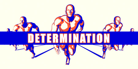 determination: Determination as a Competition Concept Illustration Art