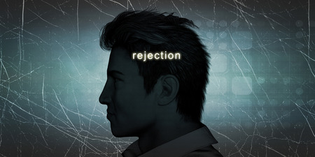 experiencing: Man Experiencing Rejection as a Personal Challenge Concept