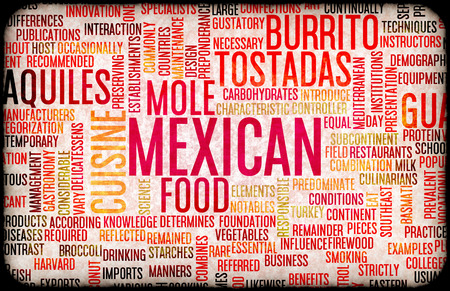 mexicans: Mexican Food and Cuisine Menu Background with Local Dishes