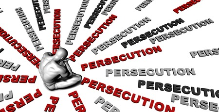 persecution: Suffering From Persecution with a Victim Crying Male