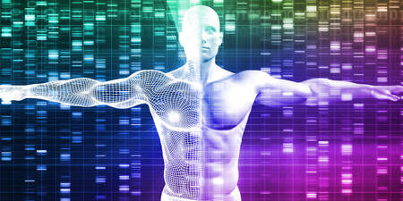 sequencing: DNA Encoding and Genetic Code as a Science Abstract Stock Photo